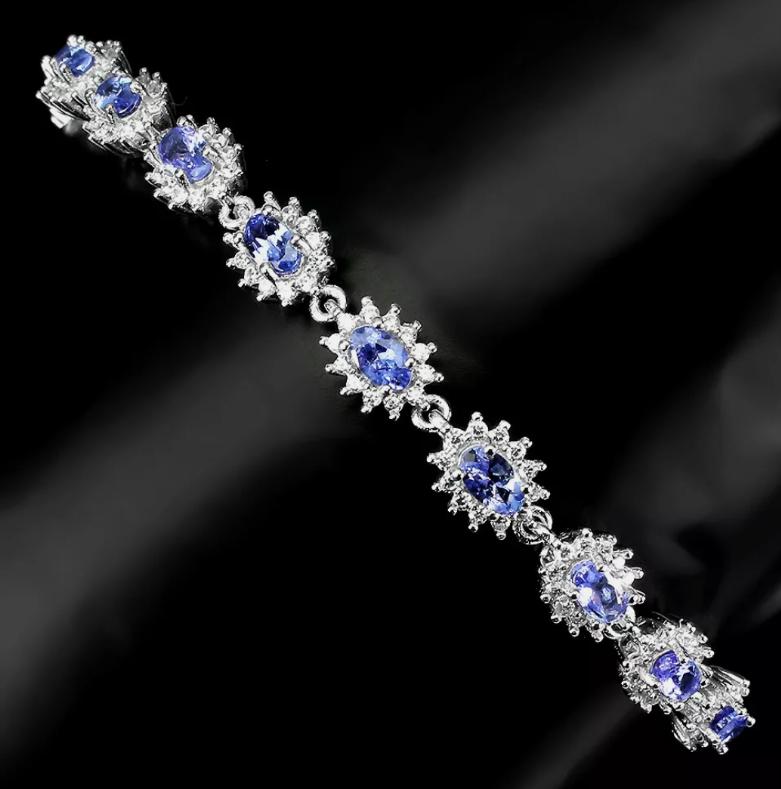 (50) Stunning 62.5tcw. VVS Tanzanite Bracelet Untreated Retail $2300