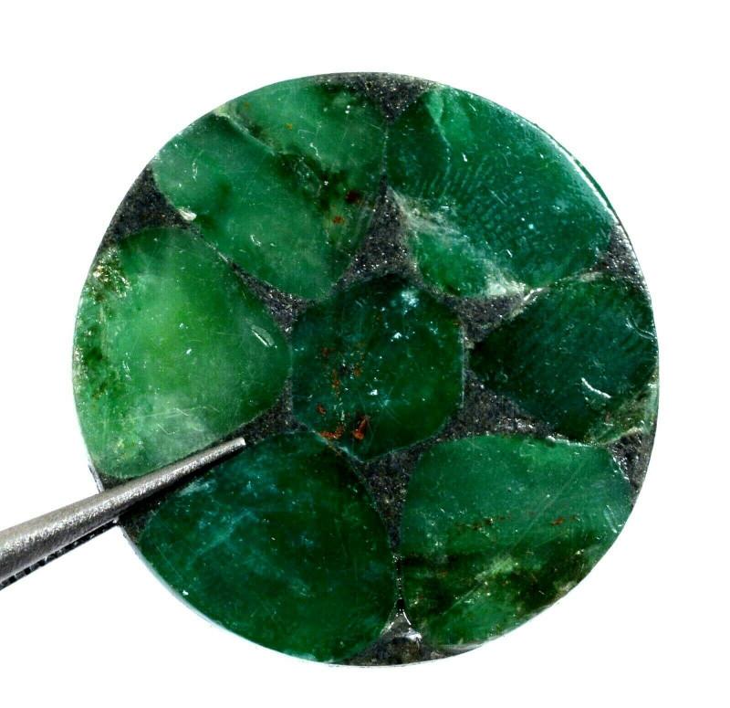 Gemstone natural green emerald certificate AGSL round