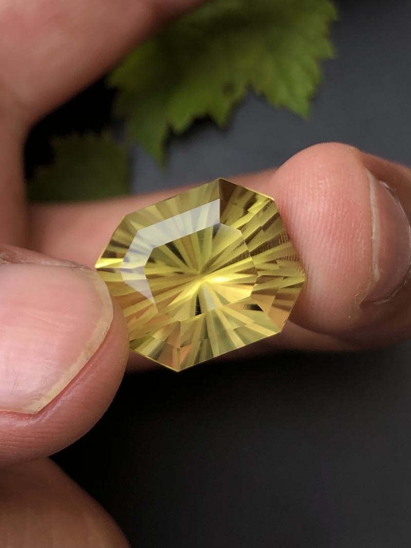 Clean Piece 18.30 ct Fancy Cut Lemon Citrine Jewelry Piece