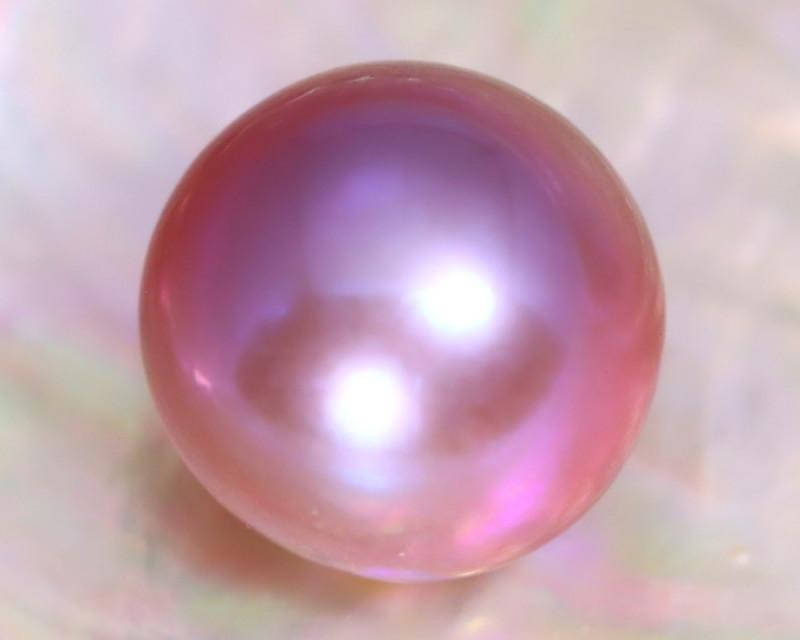 12.0mm 12.38Ct Natural Australian South Sea Purple Color Pearl A1525