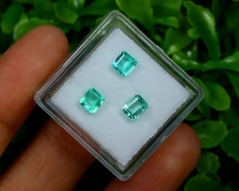 Muzo 1.20Ct Natural Colombian Emerald Neon Green Mint Beryl C1521