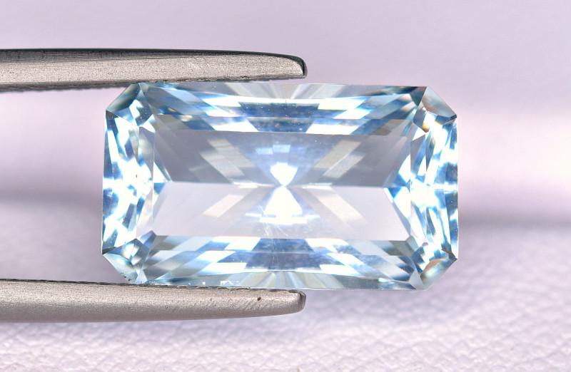 GFCO-  5.98 Carat Aquamarine Precision Step Brilliant Cut Gemstone @ PAK