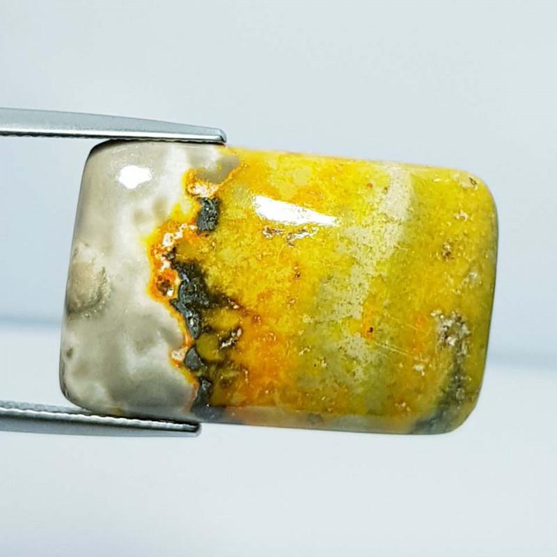 22.99 ct Natural Bumble Bee Jasper Rectangular Cabochon  Gemstone