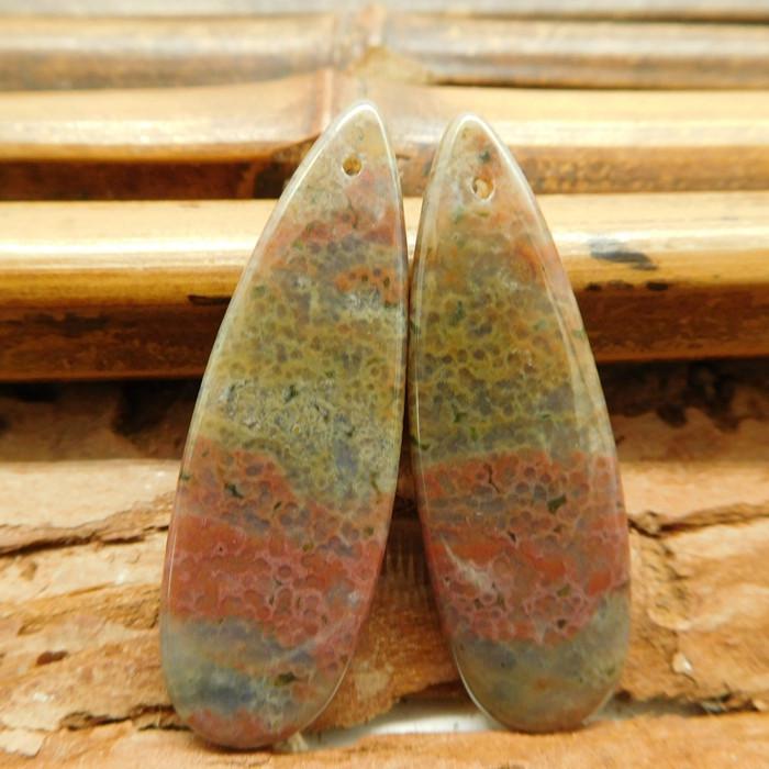 2pcs ocean jasper pendant bead (G2919)
