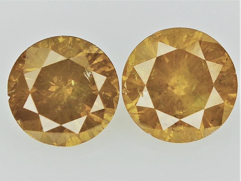 0.52cts , Round Brilliant Cut Diamonds