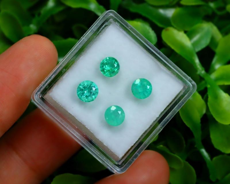 Muzo 1.83Ct 4Pcs Natural Colombian Green Color Muzo Emerald ST701