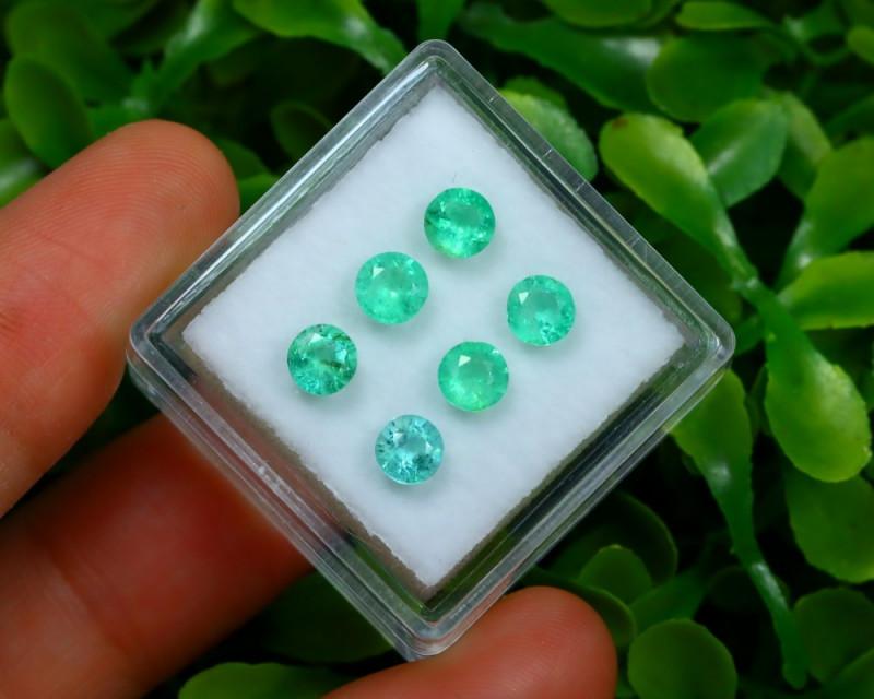 Muzo 1.93Ct 6Pcs Natural Colombian Green Color Muzo Emerald ST702
