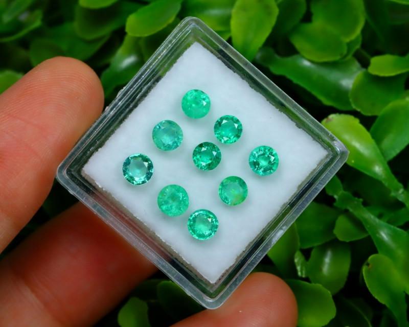 Muzo 1.84Ct 9Pcs Natural Colombian Green Color Muzo Emerald ST708