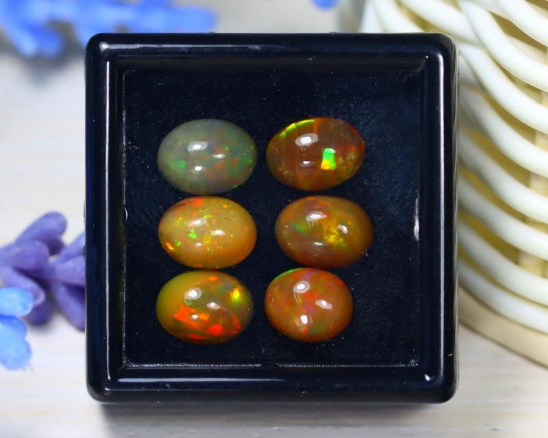 Welo Opal 5.63Ct Natural Ethiopian Rainbow Flash Welo Opal Lot ST710