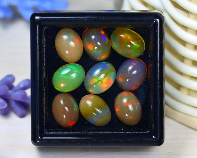 Welo Opal 7.85Ct Natural Ethiopian Rainbow Flash Welo Opal Lot ST716
