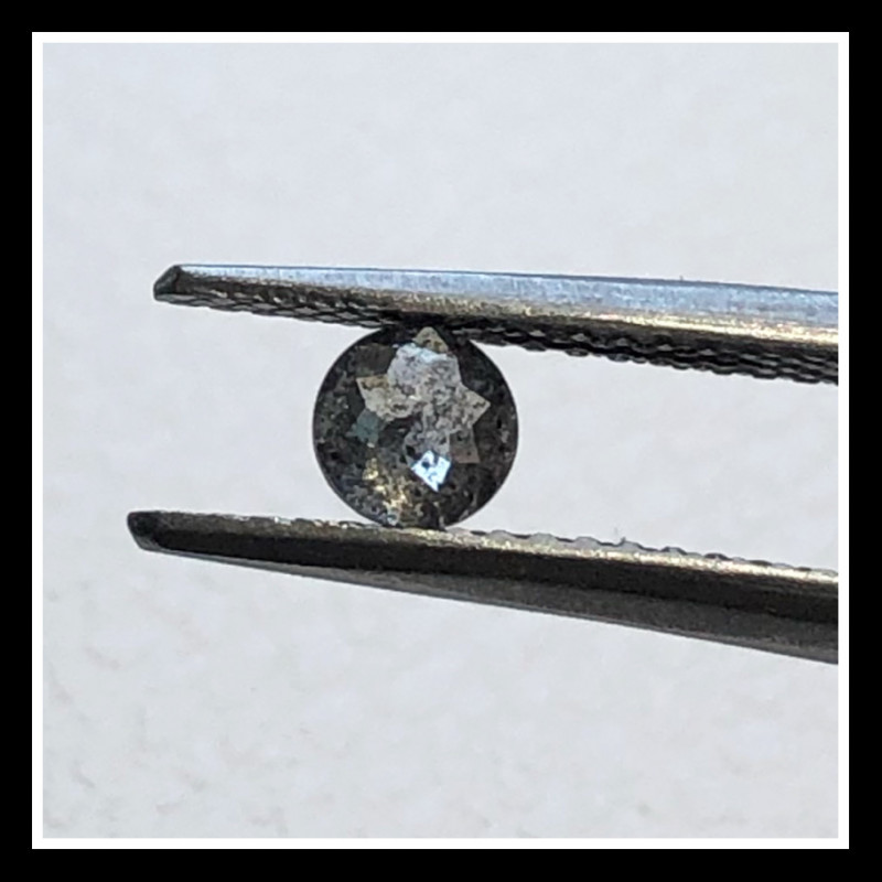 0.35ct White Salt Pepper rose cut diamond Traceable from Botswana 3.5mm by