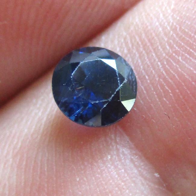 0.74cts Natural Australian Blue Sapphire Round  Shape