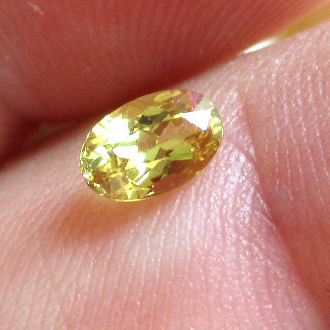 0.53cts Natural Australian Yellow Sapphire Oval  Shape