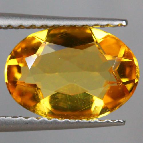 1.63 CT 10X7 MM AAA QUALITY YELLOW BERYL BRAZIL GEMSTONE-YB45