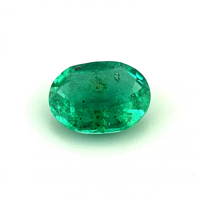 ~NR~1.040(ct)Emerald No Oil Oval Cut Faceted Gemstone