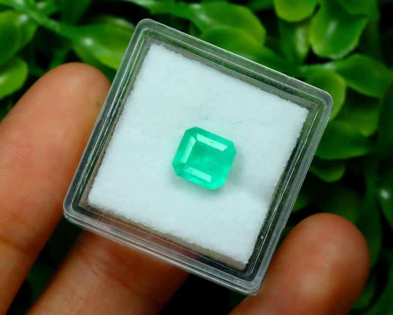 Muzo 1.31Ct Natural Colombian Vivid Green Color Muzo Emerald B2420