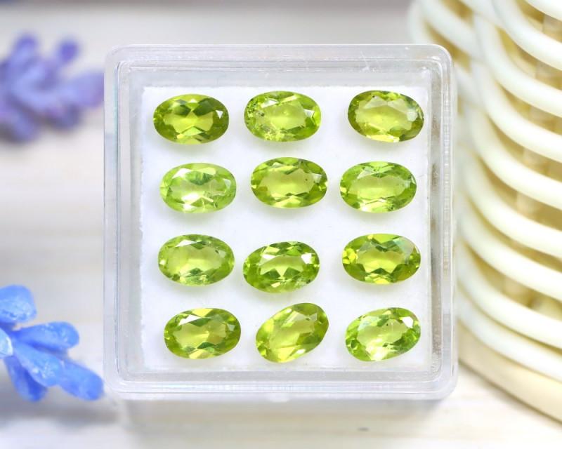 Peridot 5.67Ct VS2 Oval Cut Natural Neon Green Color Peridot Lot B2429