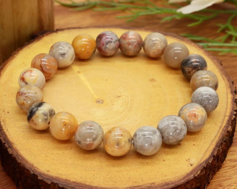 10.00mm 146.86Ct Natural Venus Jasper Beads Bracelet EN159