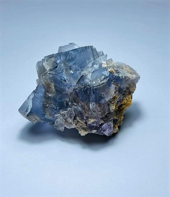 Amazing  Natural color gemmy quality  Fluorite cluster Specimen 349Cts-P