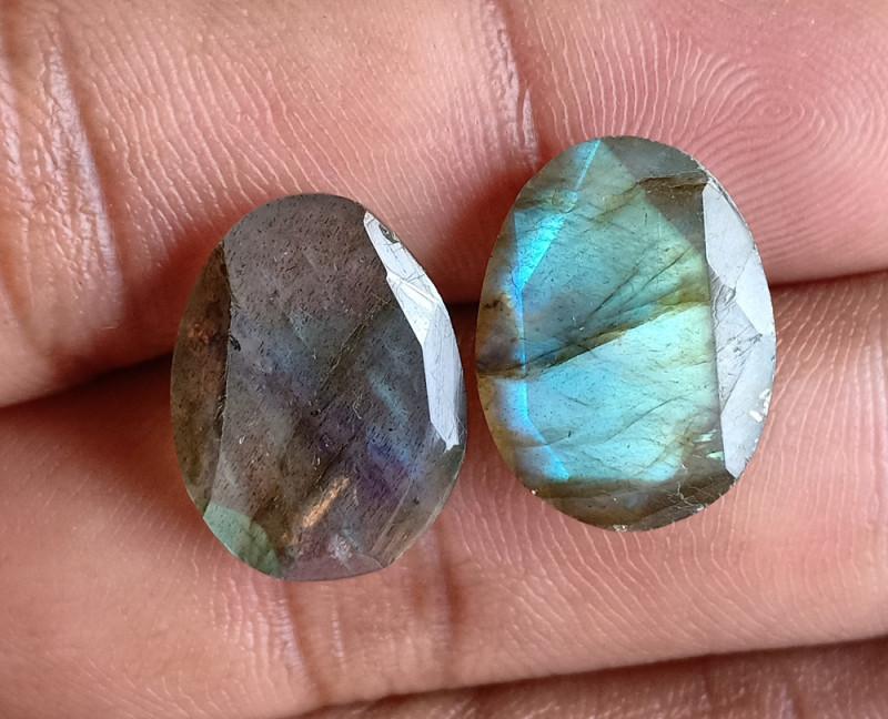 16x11mm Labradorite 100% Natural + Untreated Faceted Gemstone VA1313