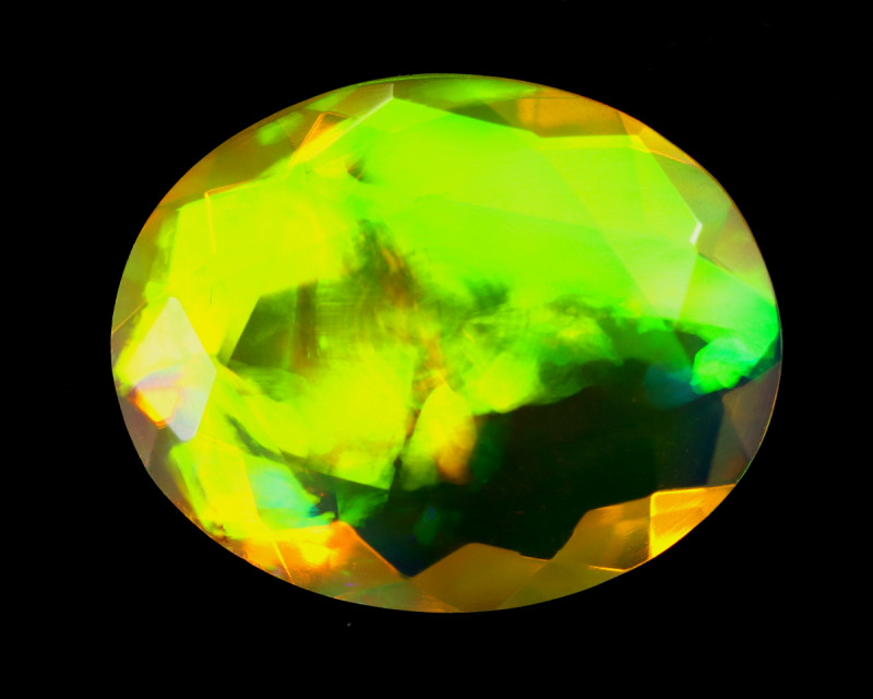 2.96cts Natural Ethiopian Welo Faceted Opal / KLV1359