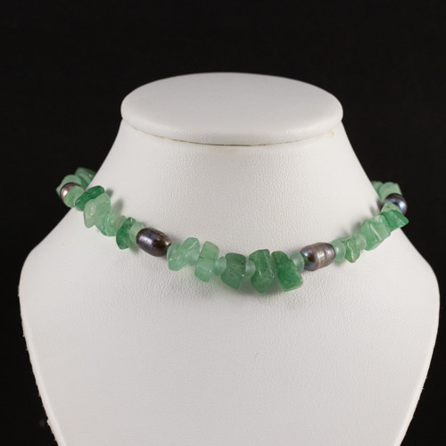 Jade and Black Pearl Necklace