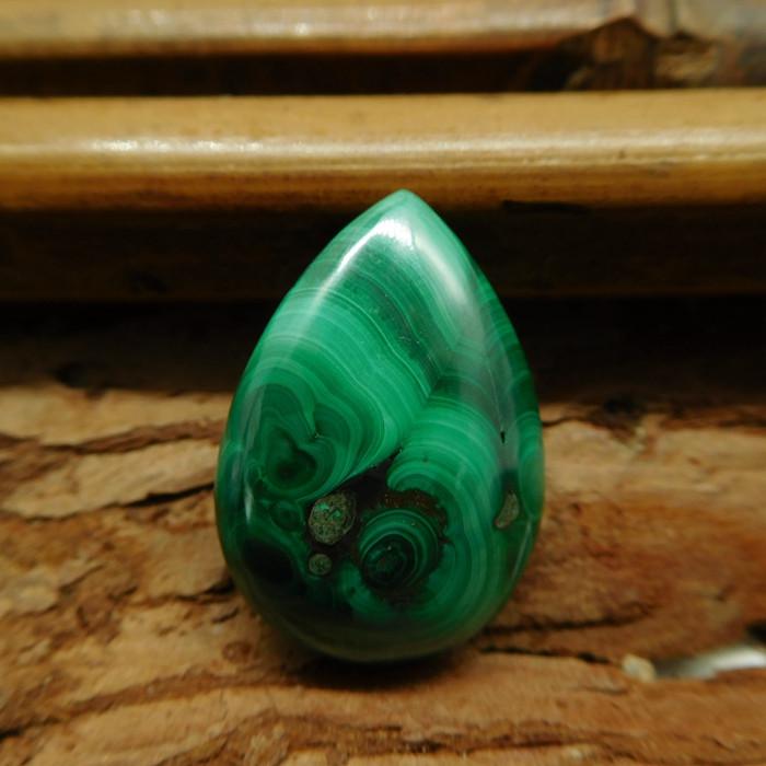 New malachite cabochon bead (G3058)