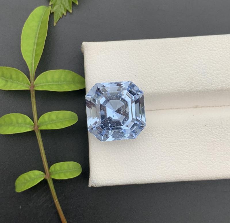 Asscher Cut  11.00 ct Blue Color Aquamarine