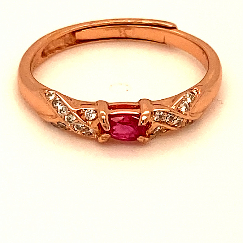Tajikistan Ruby .30ct Rose Gold Finish Solid 925 Sterling Silver Ring