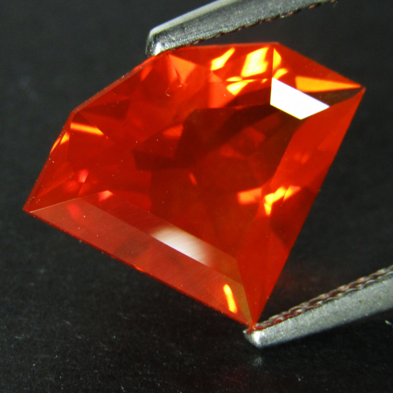 3.00Cts Natural Extremely Mexican Fire Opal Fancy Cut Loose Gem VDO