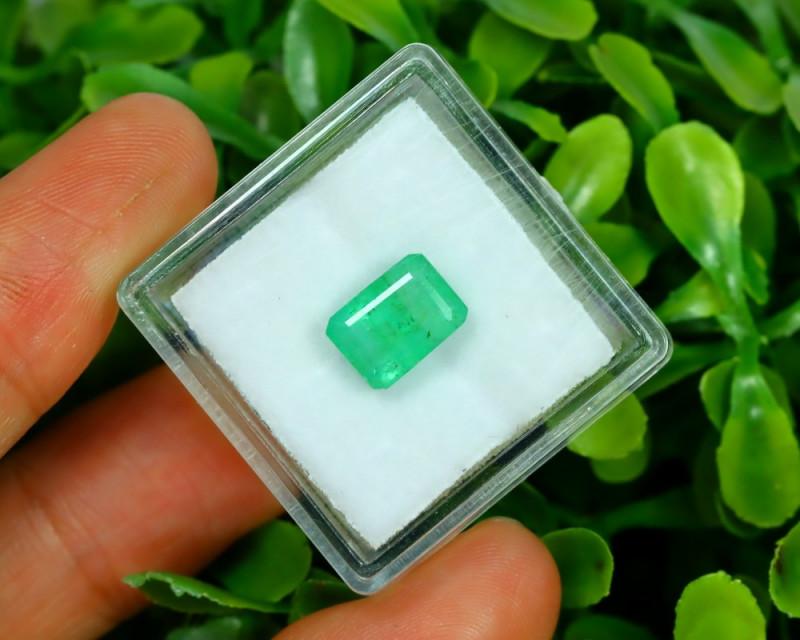 Panjshir 1.95Ct Octagon Cut Natural Afghanistan Green Emerald A2813