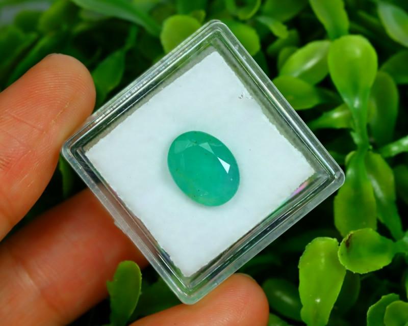 Panjshir 2.63Ct Oval Cut Natural Afghanistan Green Emerald A2819