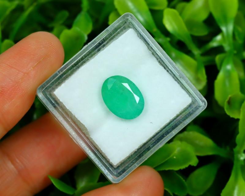 Panjshir 2.47Ct Oval Cut Natural Afghanistan Green Emerald A2828