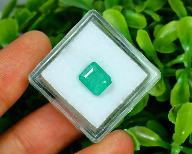 Panjshir 2.01Ct Octagon Cut Natural Afghanistan Green Emerald A2833