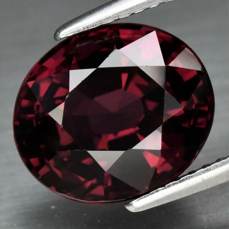 IF Clean! 5.58ct Natural Earth Mined Purplish Red Rhodolite Garnet, Tanzani