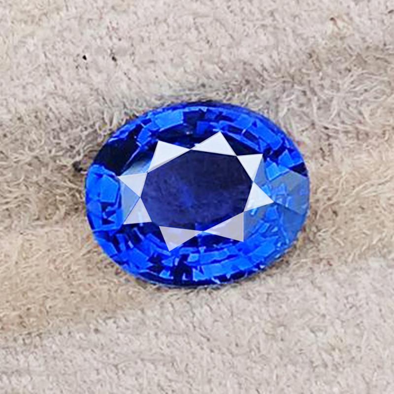 6.09 CT SAPPHIRE CORNFLOWER BLUE UNHEATED 100% NATURAL LOTUS CERTIFIED