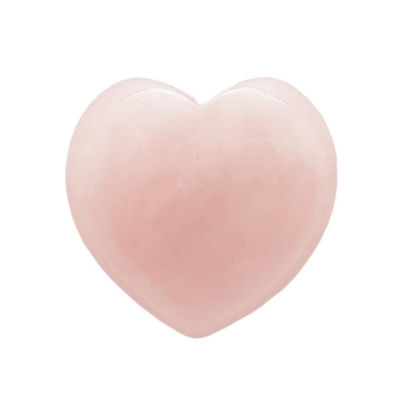 Rose Quartz 15mm Love Heart Shape 100% Natural Unheated Brazil Mine