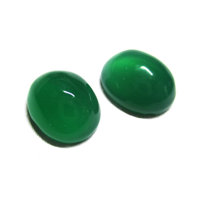 7.20tcw  Green Chalecedony Matching Oval Cabochons