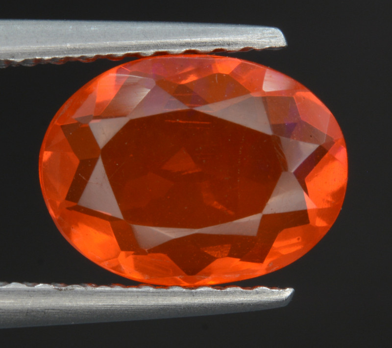 Mexican Fire Opal  1.07  Cts Faceted Gemstone