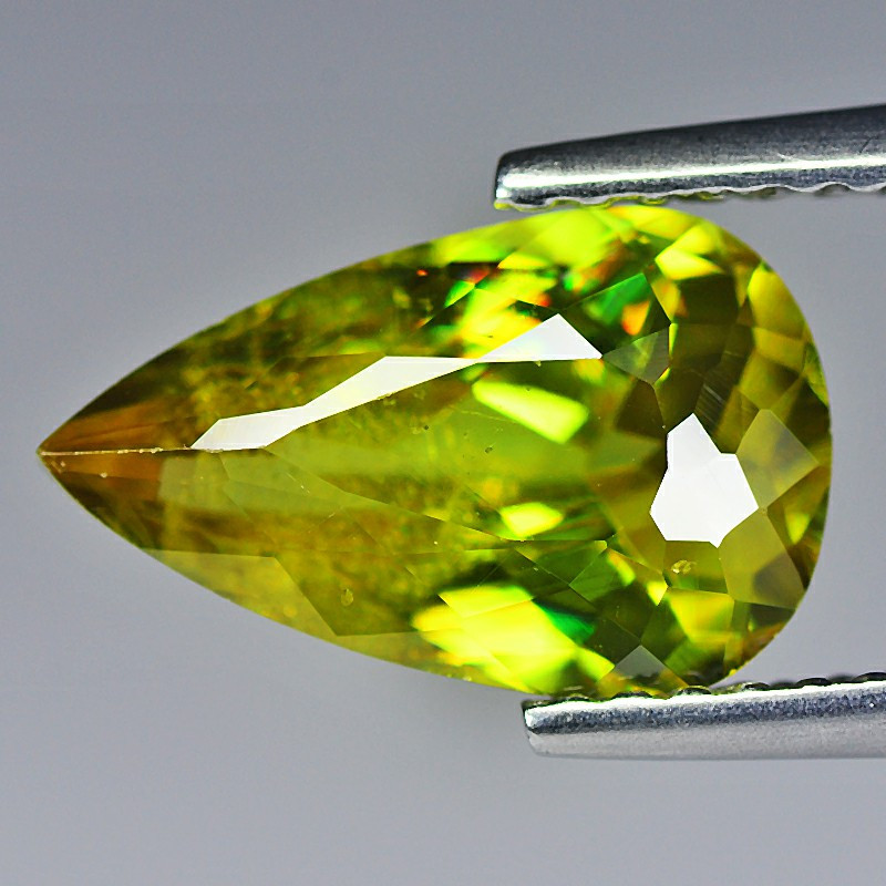 Sphene Titanite 2.17 Cts  Yellow Portuguese cut BGC239   From Madagascar