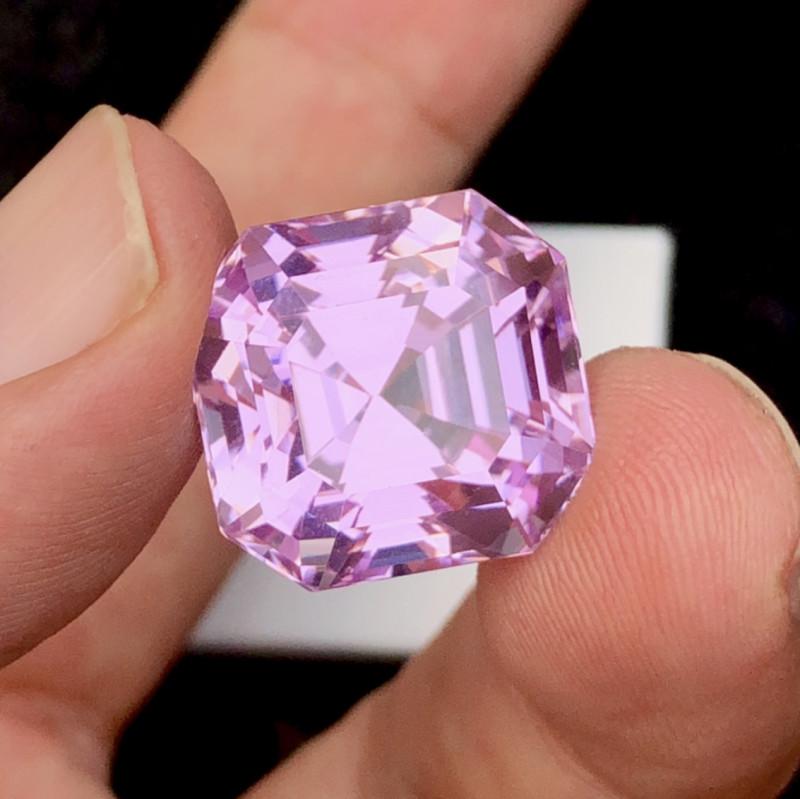 34.48 Carat One Of best Fancy Cut Kunzite Gemstone