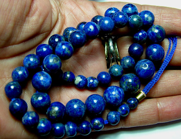 LAPIS BEADS DRILLED  NATURAL 185 CTS AS-1985