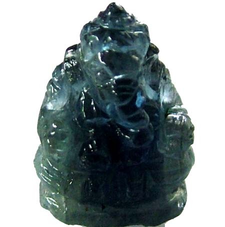 SAPPHIRE CARVING GANESHA   7.75 CTS    [MX 4703]