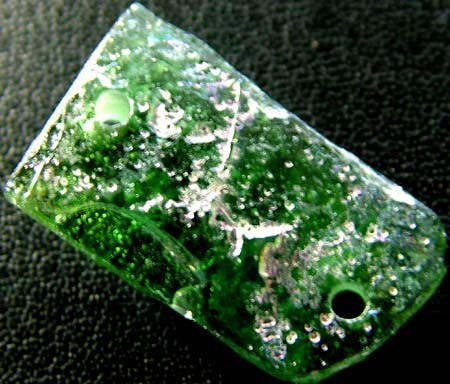 ANCIENT GLASS BEAD -AFGANISTAN- FACE DRILLED 12.95CTS MX4740