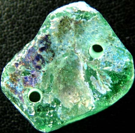 ANCIENT GLASS BEAD -AFGANISTAN- FACE DRILLED 12.80CTS MX4750