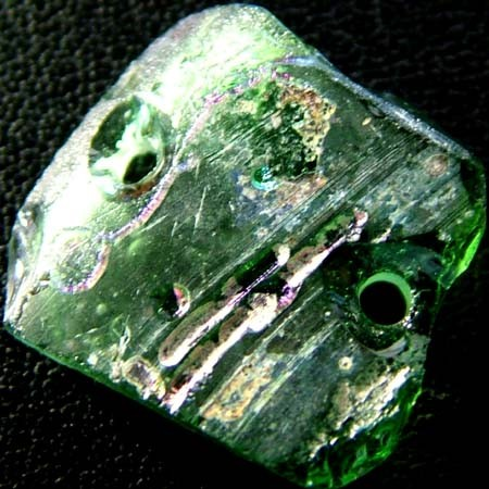 ANCIENT GLASS BEAD -AFGANISTAN- FACE DRILLED 7.30CTS MX 4755