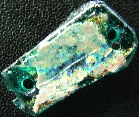 ANCIENT GLASS BEAD -AFGANISTAN- FACE DRILLED 6.55 CTS MX4756