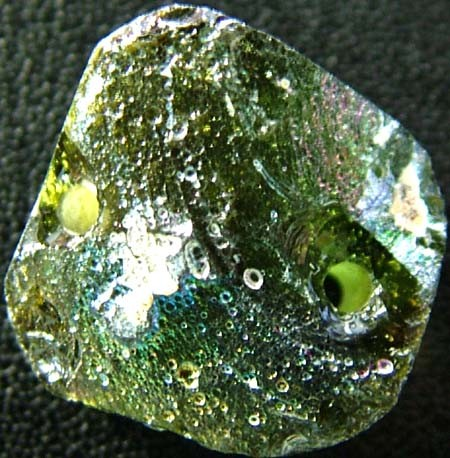 ANCIENT GLASS BEAD -AFGANISTAN- FACE DRILLED 13.05CTS MX4759