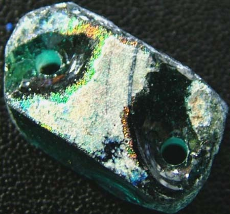 ANCIENT GLASS BEAD -AFGANISTAN- FACE DRILLED 6.80 CTS MX4760