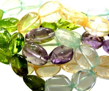 FOUR DIFERENT  COLOURFUL STONES  IN STRAND 74.75 CTS GT1557